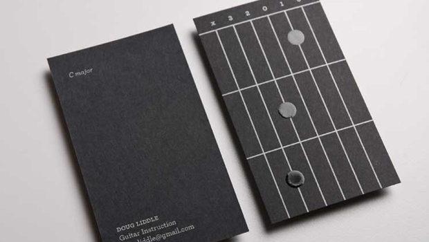 Aprende guitarra con una tarjeta de visita. #identidad #design