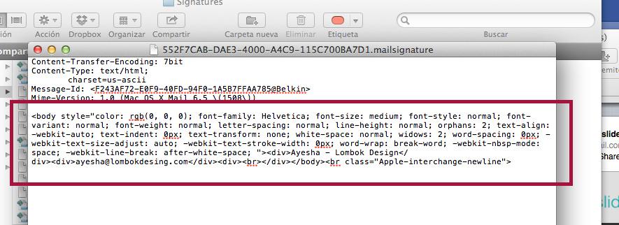 Debemos sustituir el contenido del recuadro rojo por nuestro código HTML.