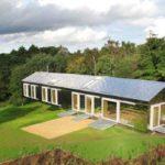 Granero en equilibrio en Gran Bretaña #design #arquitectura