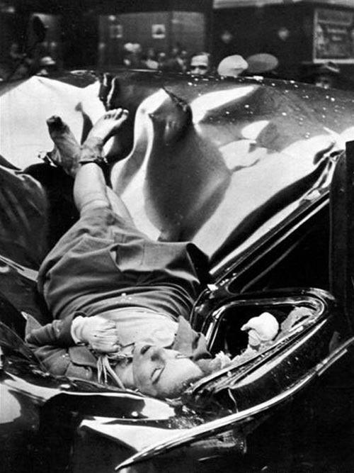 El suicidio más bello. Una mujer de 23 años saltó desde los alto del Empire State Building y cayó sobre un coche del Gobierno en 1947.