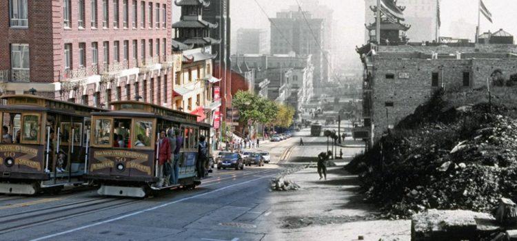 Espectacular antes y después del terremoto de San Francisco de 1906
