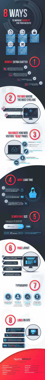 Infografia sobre las 8 maneras de mejorar la usabilidad de tu web