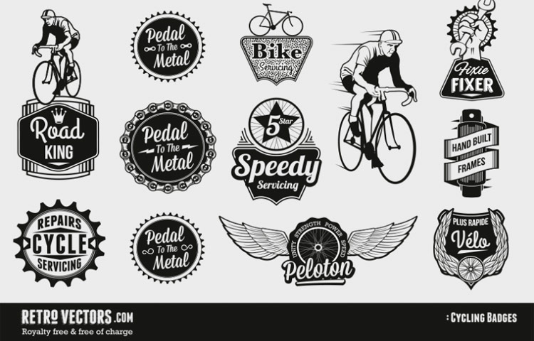 Diferentes formas en diferentes logotipos.