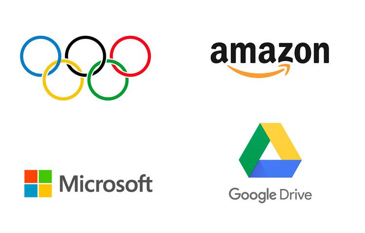 Diferentes formas de diferentes logotipos.