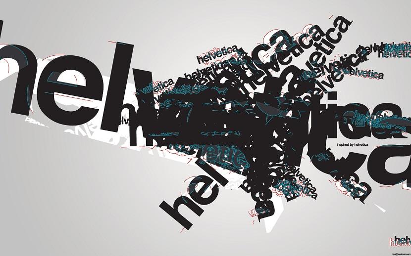 La tipografía Helvética.