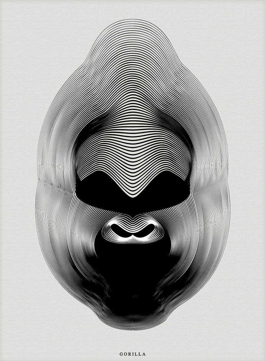 Animals in Moiré, las ilustraciones de Andrea Minini
