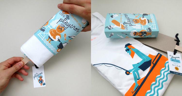 Iglöo Creativo diseñó este packaging veraniego con forma de helado, para la edición limitada de camisetas ilustradas