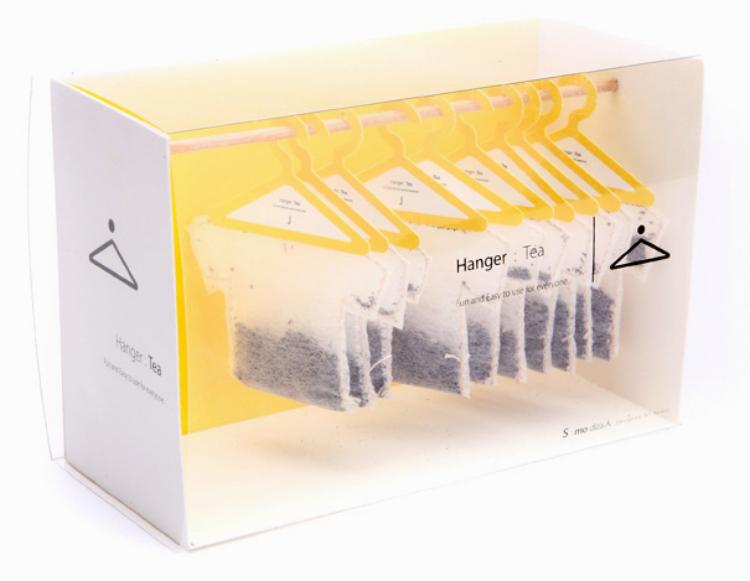 Soon Mo Kang ha diseñado estas bolsitas de té con forma de camiseta