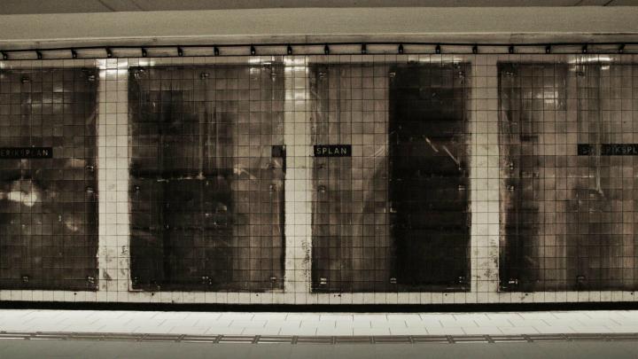 La pared del metro donde crearon el anuncio
