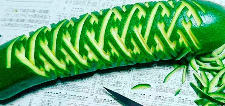 Mukimono, el arte de tallar frutas y verduras