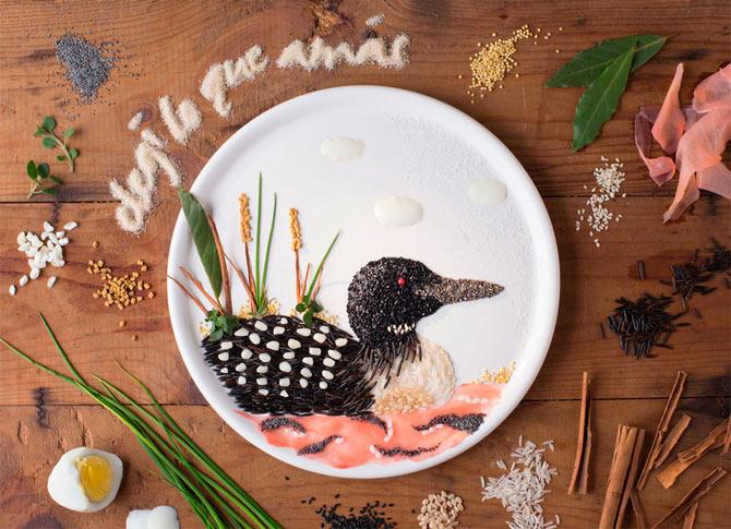 Anna Keville Joyce se dedica a ilustrar con comida.