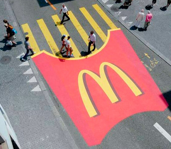 Publicidad ingeniosa de McDonald's.