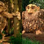 Gigantes de madera en los bosques de Copenhague