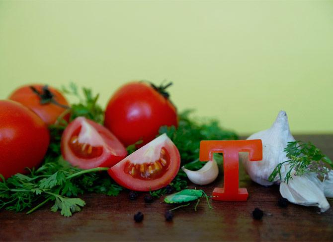 Alfabeto hecho con comida de Sarah Das