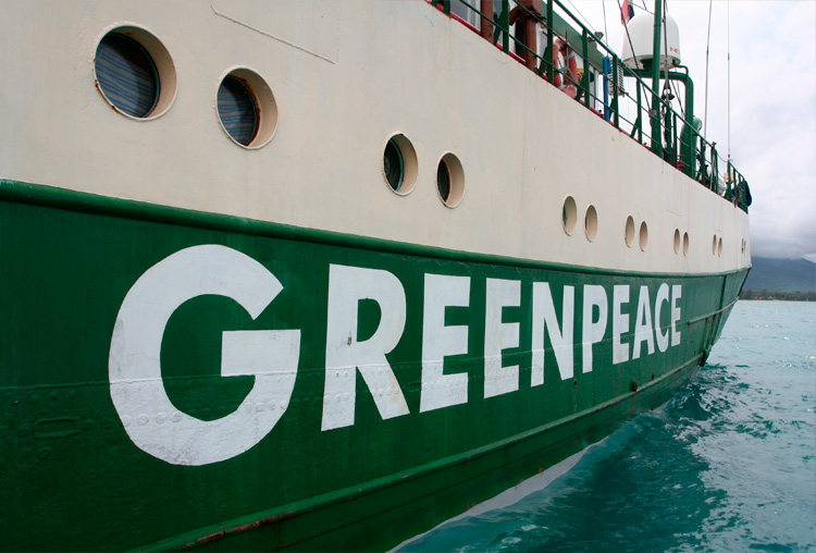 Greenpeace, verde. Color de identidad corporativa