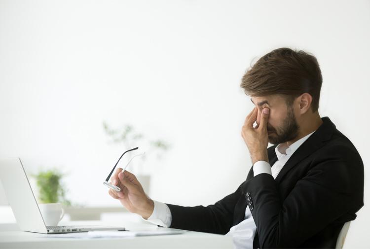 Fatiga visual tras largas horas de exposición al ordenador