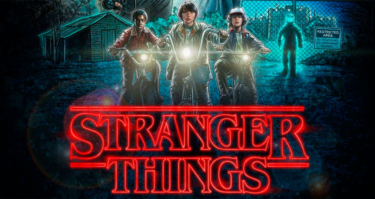 Cartel retro de Stranger Things
