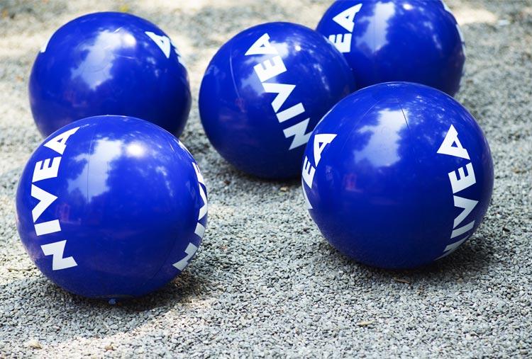 El merchandising de los balones Nivea