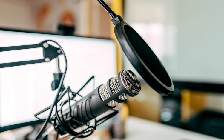 Microfono y radios. Podcast